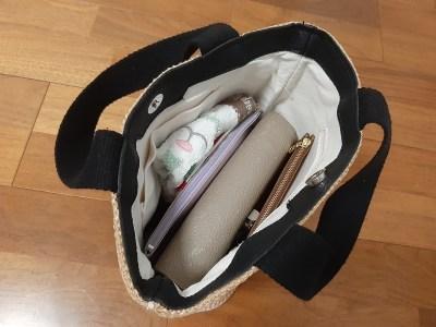 momotona マチが広い 小さめかごバッグ 可愛い 軽い 薄い 30代ママ 40代ママ