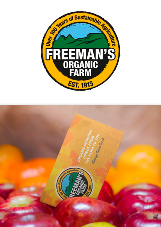 Freemans Organic Farm Logo & Business Card Design