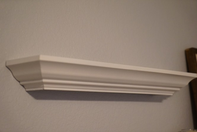 shelf properly hung on wall