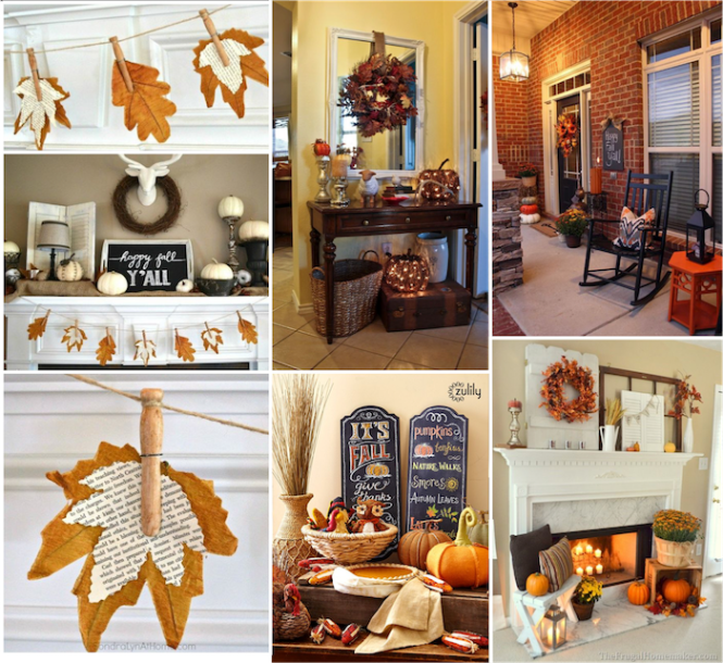 fall decor collage pinterest