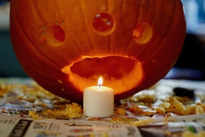 carving pumpkins drilling holes air flow