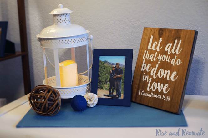Bedroom Decor - Love Themed - Blue and White