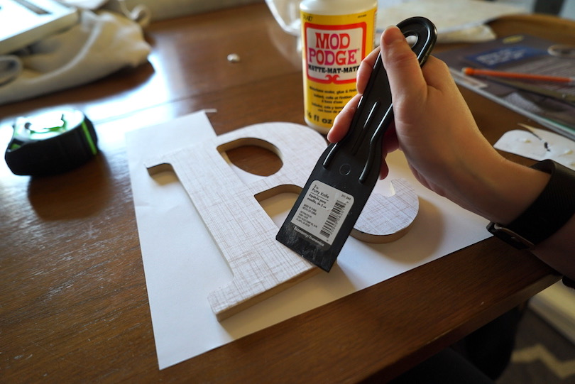 smoothing out mod podge