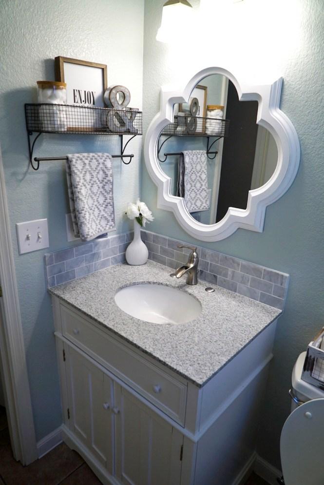 Guest Bathroom Makeover - After, Vanity Shot