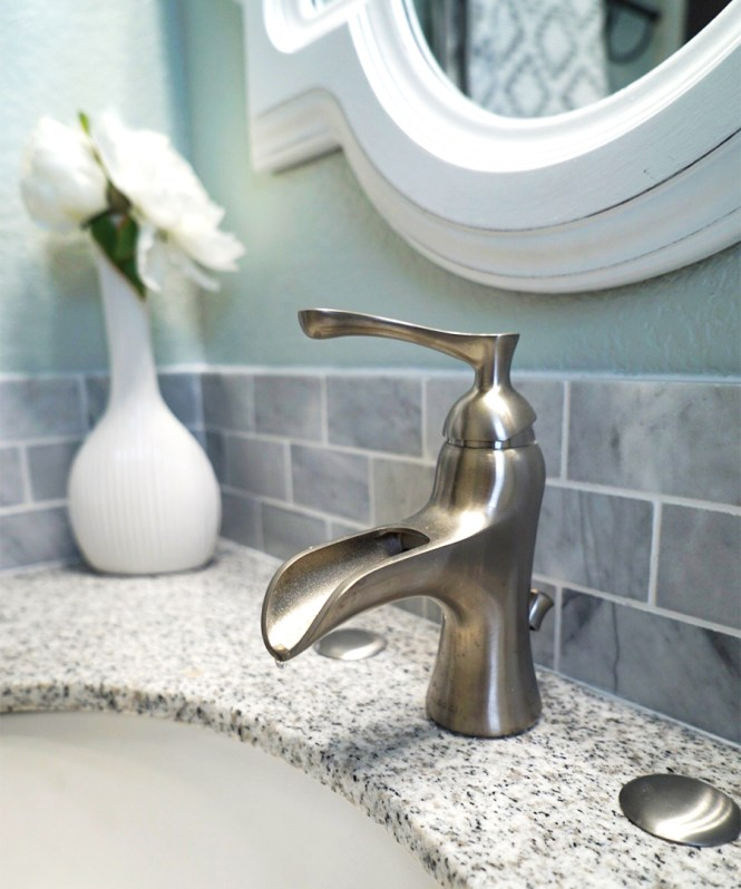 Guest Bathroom Makeover - Faucet