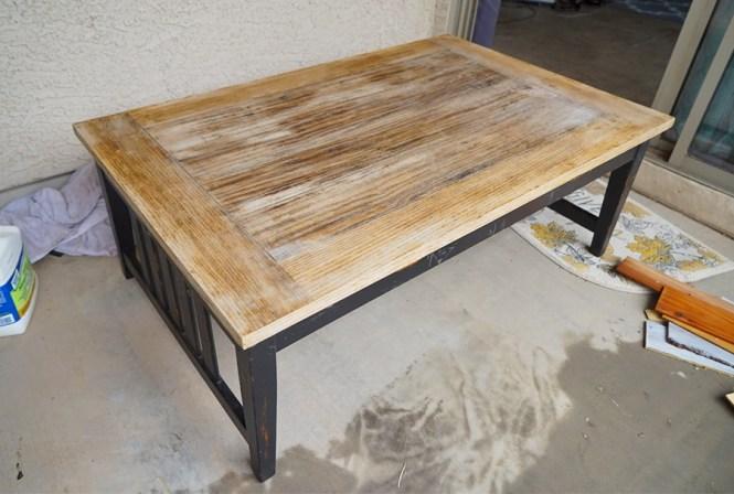 Farmhouse Coffee Table - Table Stripped