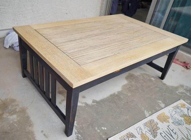 DIY Coffee Table - Sanded Table