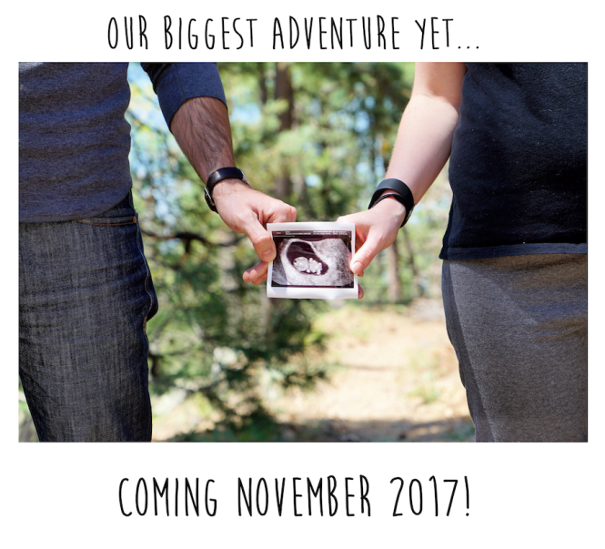 Pregnancy Announcement in the Woods - Nursery Planning