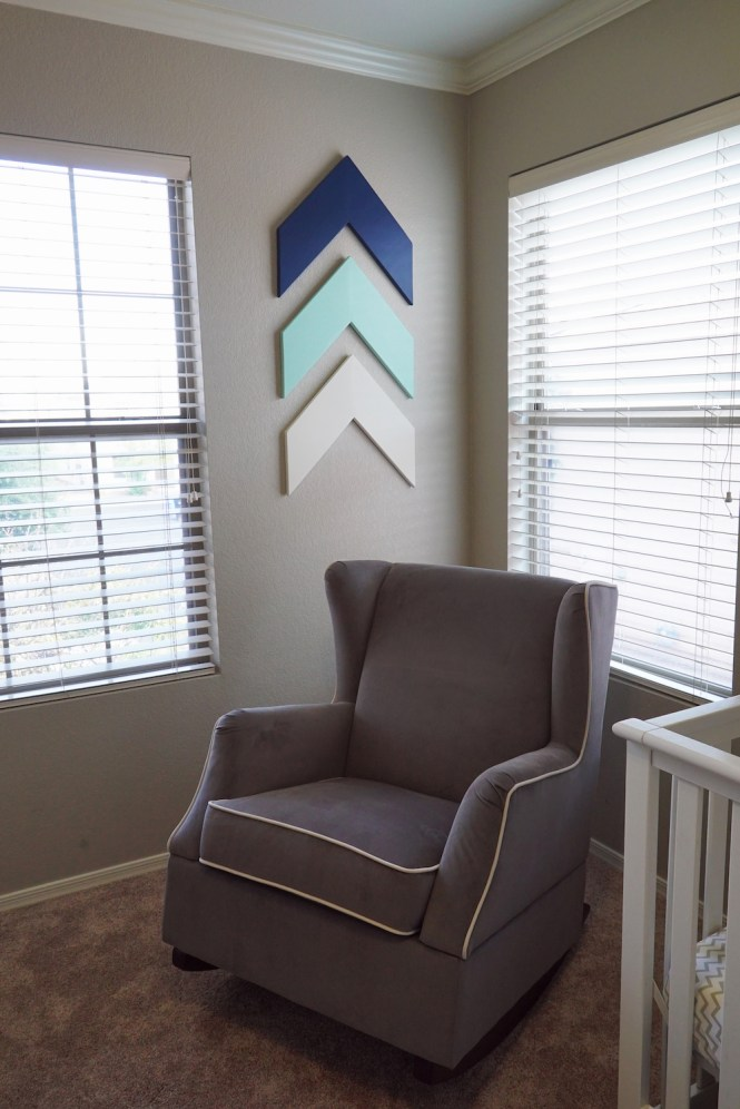 DIY Chevron Arrows in Nursery
