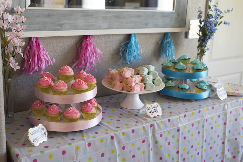 I Picked Up A Couple Inexpensive Cardboard Cupcake Stands From WalMart These And Hot Glued Colored Ribbon Around The Outsides Each Cost Me About 7