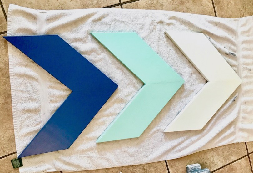 Painted DIY Chevron Arrows