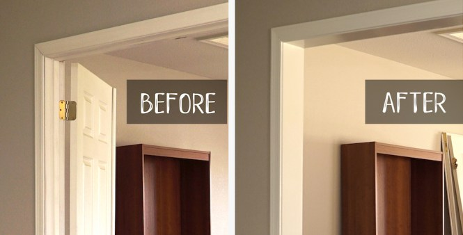 How to Remove Door Hardware - Before and After