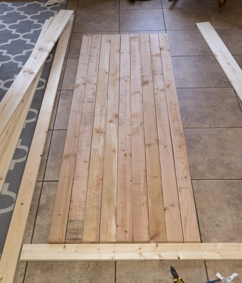 ... Our Tile Floor To Get Them Straight. Since The Boards Tend To Warp A  Bit, We Switched Them Around Until We Got Them Each As Close Together As  Possible.