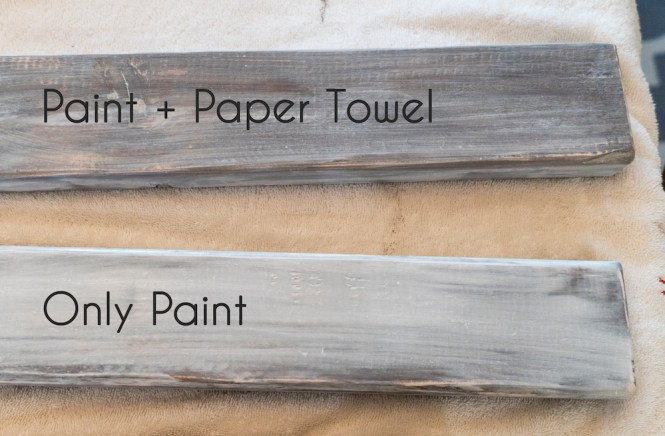 Stacked Sign with 2x4s - Whitewash Paper Towel Technique