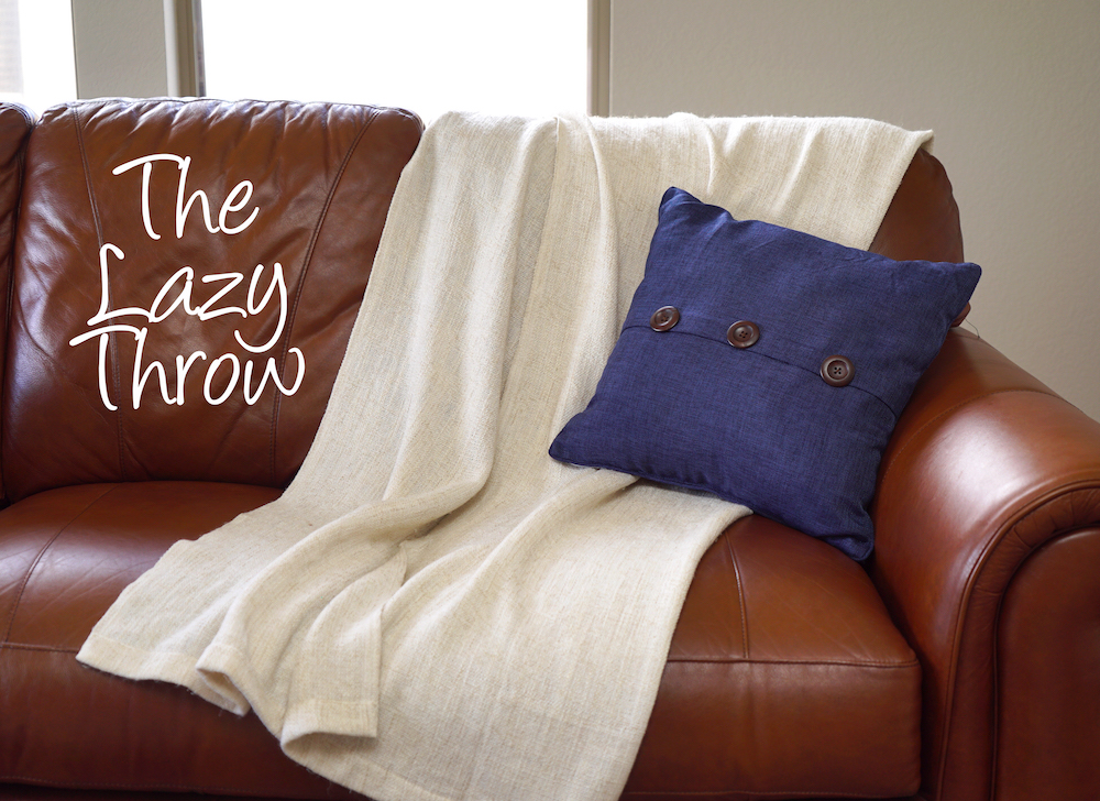 how to style a throw blanket - lazy throw