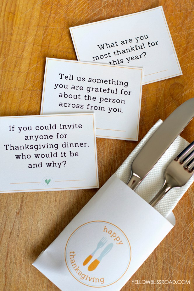 Thanksgiving Table Ideas - conversation starters
