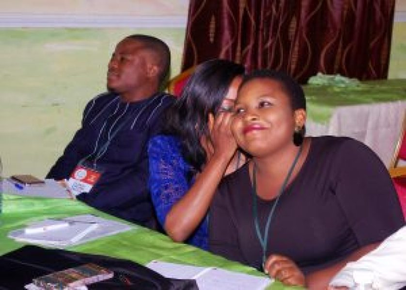 "Fellows taking part in a class exercise during a Lecture on the topic ""Creative Communication and Citizen Engagement in Public Service"" #NSLP2016"