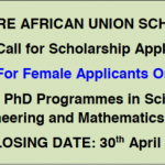 Mwalimu Nyerere African Union Scholarship Scheme For Masters and PhD Programmes in Science, Technology, Engineering and Mathematics (STEM) 2018