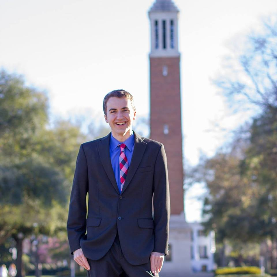 The author on the University of Alabama campus. Photo Credit: Mike Smith.