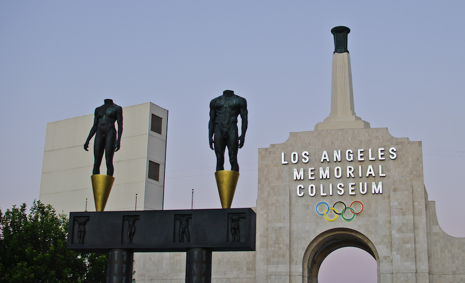 The Los Angeles Memorial Coliseum will serve as the temporary home of the LA Rams until they open a new stadium in 2019. Photo Credit: InSapphoWeTrustFlickr (CC By 2.0)