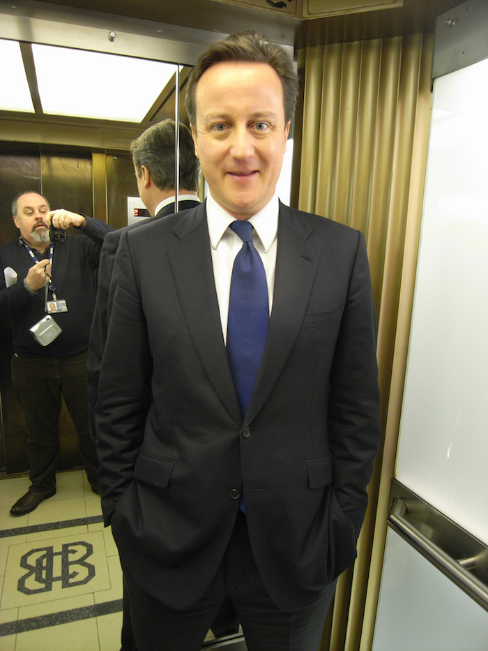 This is the British Prime Minister. Isn't he pretty? Well that's not us. We're not meant to pretty mother says. Mother says we are meant for something else. Photo Credit: Steve Bowbrick/ Flickr (CC By 2.0)