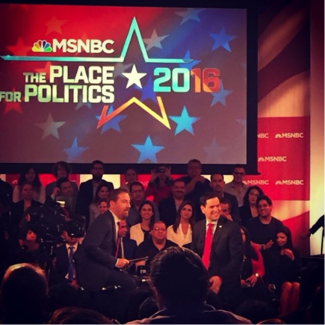 Marco Rubio at a MSNBC town hall on the campus of FIU. Photo Credit: Camila Saenz/ RISE NEWS