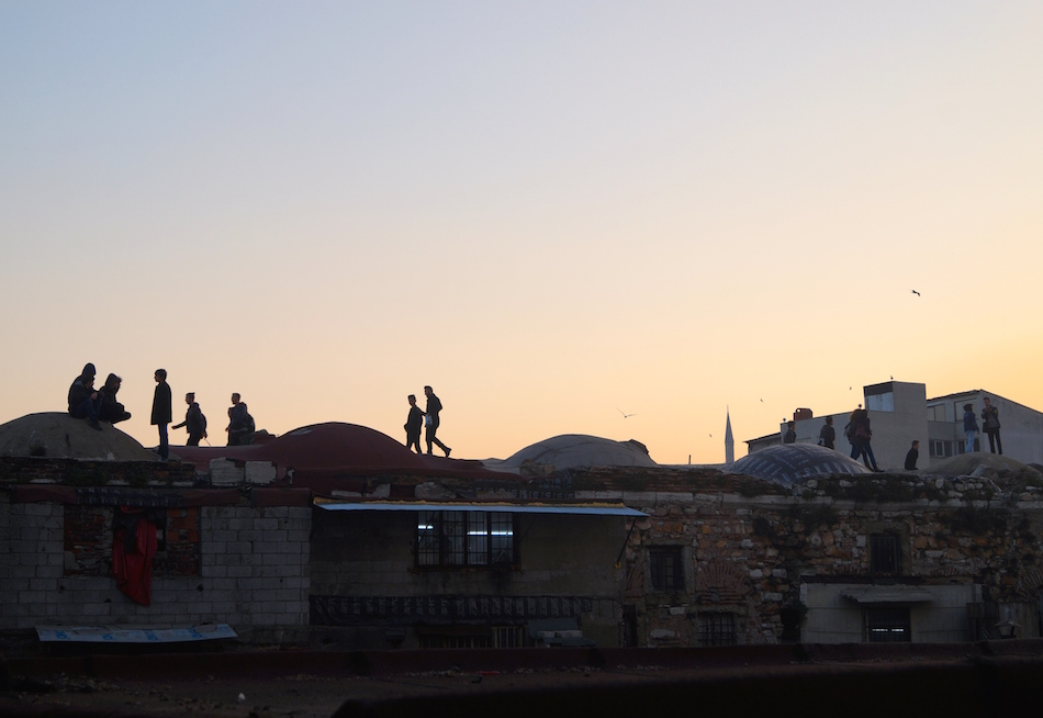 Local Kids Playing, Grand Bazaar Roof, Istanbul