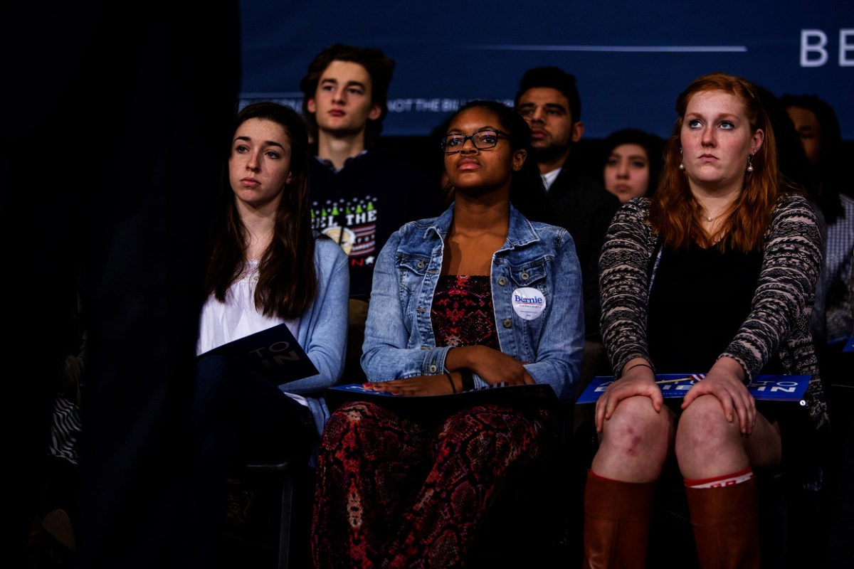It is still an open question as to whether young voters who supported Sanders will  come around to Clinton. Photo Credit: Phil Roeder/ Flickr (CC By 2.0)