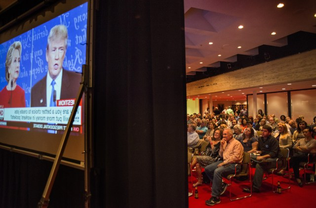 People watch the first Presidential debate of 2016 at the LBJ Library in Texas. Photo Credit: LBJ Library/ Flickr (CC By 2.0)