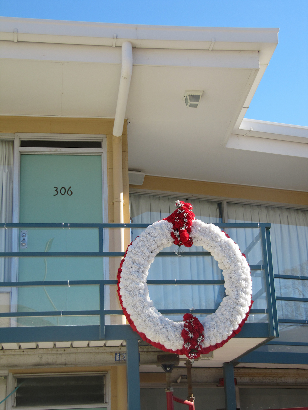 The spot where MLK was shot and killed. Photo Credit: Mr. Littlehand/ Flickr (CC By 2.0)