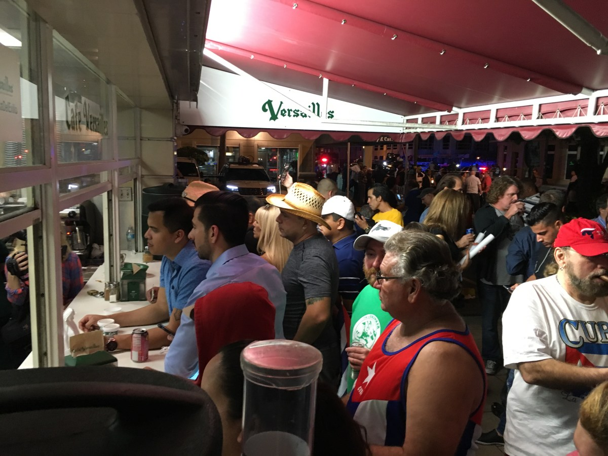 The order counter at Versailles restaurant in Little Havana in the early morning hours of 11-26-2016. Photo Credit: Rich Robinson/ RISE NEWS