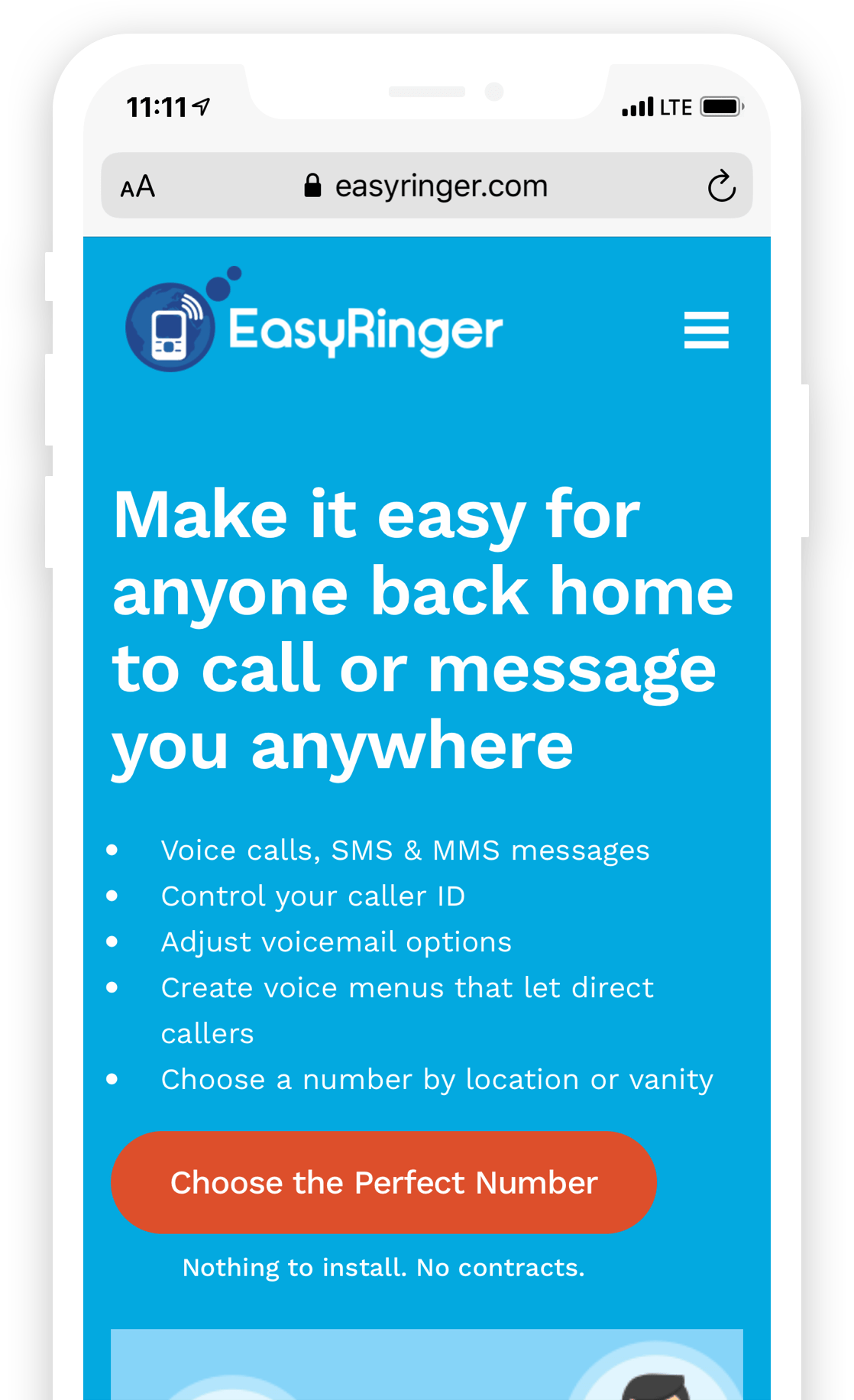 Easyringer Mobile Website