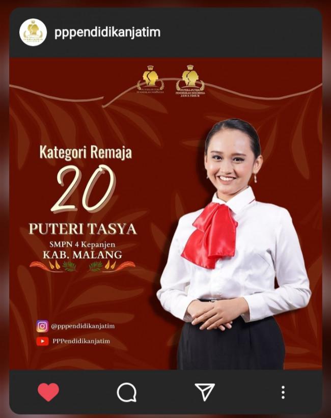 Masuk kategori remaja di ajang Putera Puteri Pendidikan Indonesia Jatim (Istimewa)