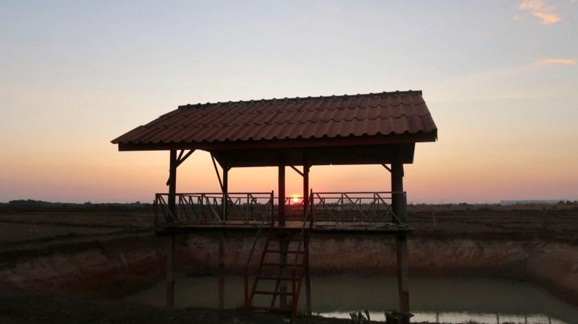 Village sunset with a twist.