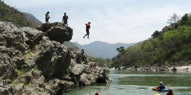 Image result for cliff jumping rishikesh