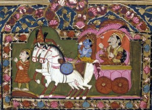 Krishna_and_Arjun_on_the_chariot,_Mahabharata,_18th-19th_century,_India