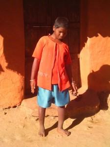 Xavier Hamsay photographs a blind girl in his community.