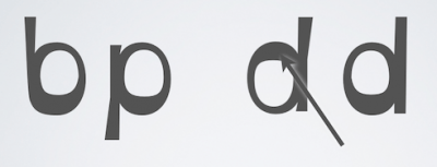 Weighted bottoms help orient readers' eyes, say the font developers. Source: OpenDyslexic.