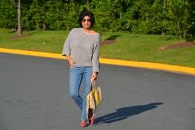 Zara Top, Levis Jeans, Coach Bag