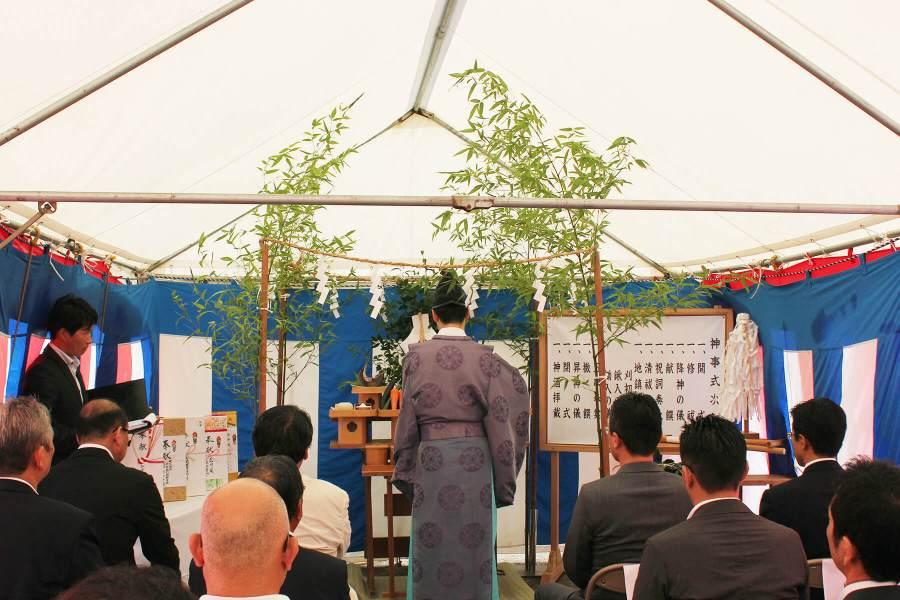 7月29日(月)長崎県諫早市にて行われた地鎮祭の模様