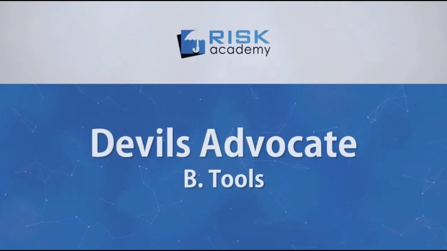 85. Devils advocate – Tools (part b) – Alex Sidorenko