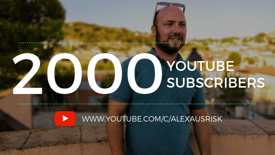 2000 YouTube subscribers! Thank you!