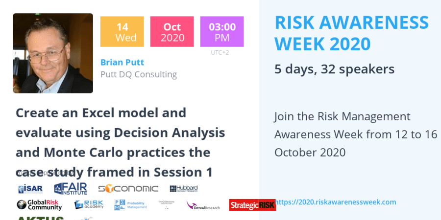 RAW2020: Create an Excel model and evaluate using Decision Analysis and Monte Carlo practices the case study framed in Session 1