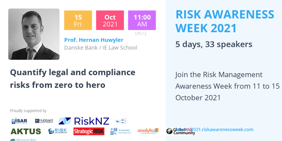 RAW2021 – Quantify legal and compliance risks from zero to hero