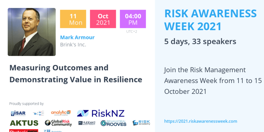 RAW2021 – Measuring Outcomes and Demonstrating Value in Resilience