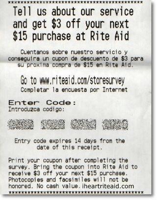 rite aid receipt