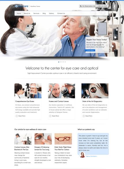 eye care wp theme
