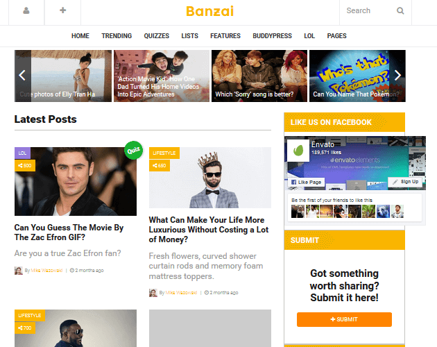banzai-wordpress-curation-themes