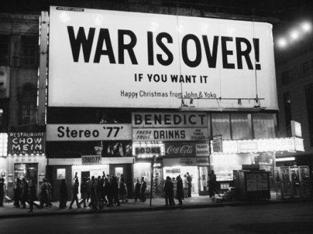 f 25 yoko ono war is over