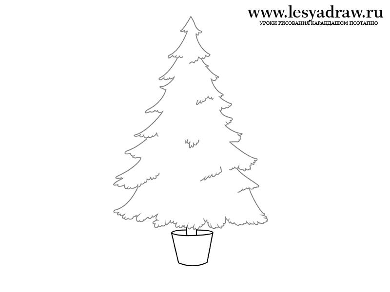 Come Disegnare Un Albero Di Natale Con Una Matita Come